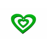 Bookmark ''Green heart''