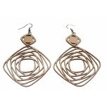 "Earrings ""Vortical"" KÕ72 Thin"