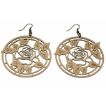 "Earrings ""Rose in a circle"" KÕ76 Thin"