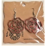 "Earrings ""Rose"" KÕ01 Small Ebonized"