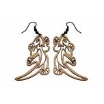"""Earrings """"Gecko"""" KÕ83 Thin"""