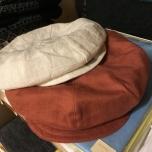Linen peaked cap