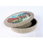 Box Tallinn with oil painting oval large