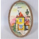Oil painting on fabric Tallinn oval