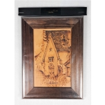 Picture of Tallinn in a leather wooden frame large