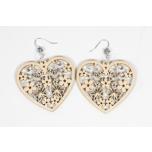 Earrings Heart with butterflies KÕ123