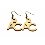 "Earrings ""ABC"""