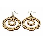 """Earrings """"Two-piece ornament"""""""