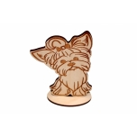 Dog with a Bow on a base